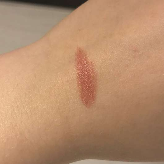 Swatch - alverde Color & Care Lipstick, Farbe: 03 Rosy Nude