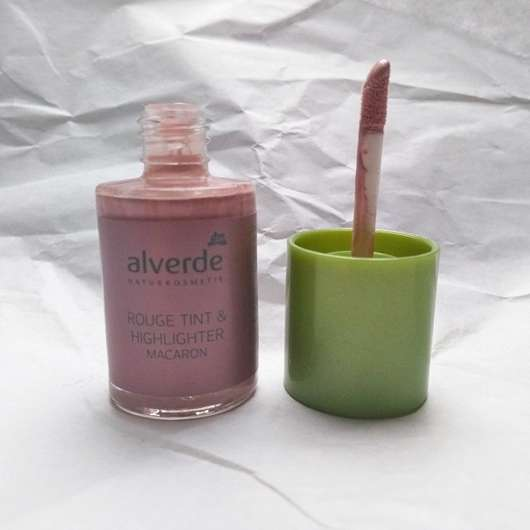test rouge blush alverde rouge tint highlighter farbe macaron testbericht von sunny 993. Black Bedroom Furniture Sets. Home Design Ideas