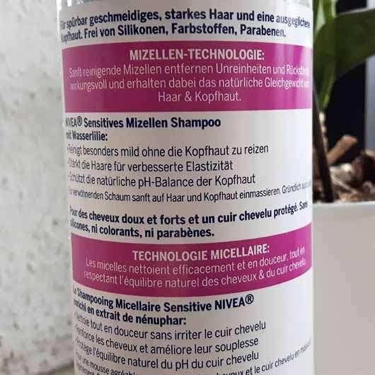 NIVEA Sensitives Mizellen Shampoo - Flasche Rückseite