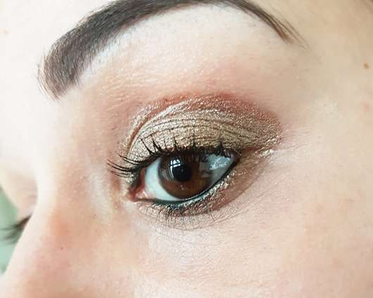 Augen Make-up mit Rival de Loop Young Crystal Pigments, Farbe: 02 desert island