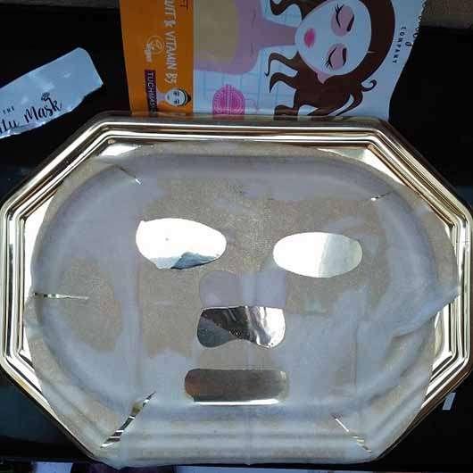 The Beauty Mask Company Strahlkraft Tuchmaske (für müde Haut) - Tuchmaske ausgebreitet