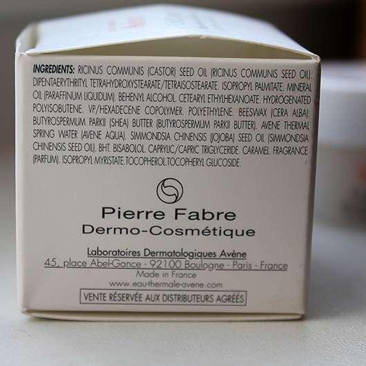 Avène Cold Cream Lippenbalsam im Tiegel - Inhaltsstoffe