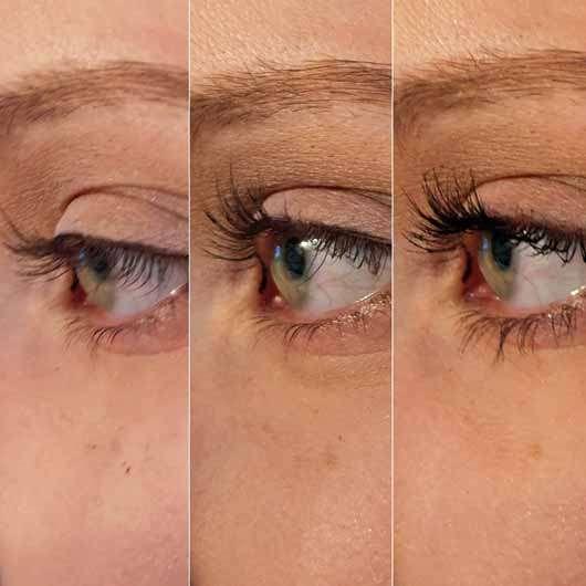 for your Beauty Wimpernzange - Collage Wimpern ohne und mit Zange gebogen
