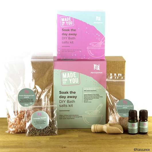 "Naissance Made by You Soak The Day Away- DIY Badesalz Kit ""Lavendel und Bergamotte"""