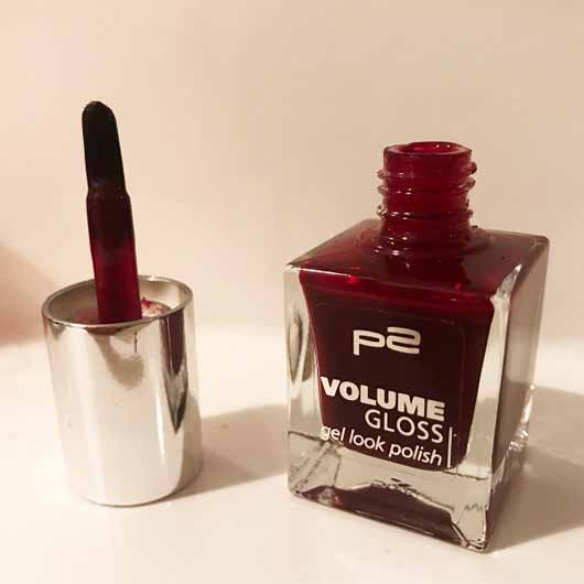 test nagellack p2 volume gloss gel look polish farbe 260 cherry counter testbericht von. Black Bedroom Furniture Sets. Home Design Ideas