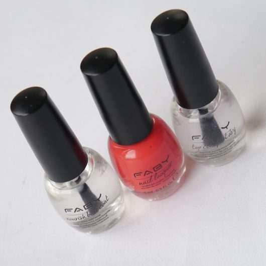 FABY Nail Lacquer Mini, Farbe: Tapis De Fleur (+ Mini Base und Top Coat)