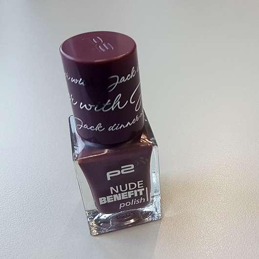 p2 nude benefit polish, Farbe: dinner with Jack - Flakon