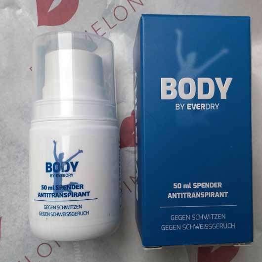 everdry Antitranspirant Body im Spender - Verpackung und Spender