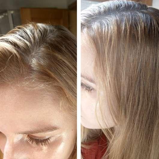 LANGHAARMÄDCHEN Pure Frische Trockenshampoo - Haare vor der Anwendung