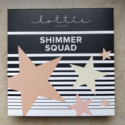 Lottie London Shimmer Squad 4 Pieces Powder Highlighter Quad