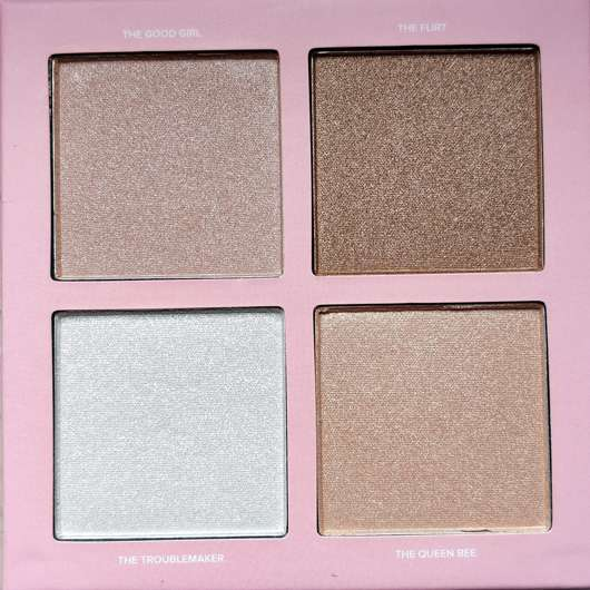 Nahaufnahme des Lottie London Shimmer Squad 4 Pieces Powder Highlighter Quad