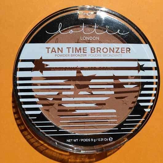 Lottie London Tan Time Bronzer, Farbe: Light/Medium - Verpackung