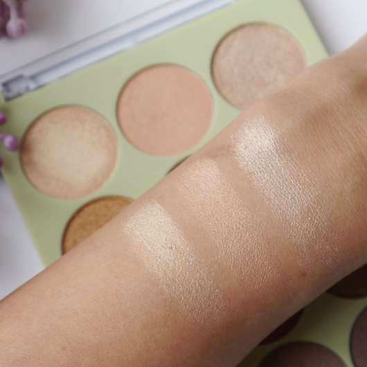 Swatches obere 3 Farben - Pixi Eye Reflections Shadow Palette, Farbe: Mixed Metals
