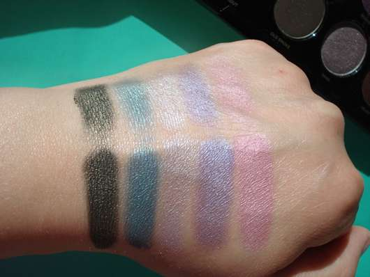 Swatches von gemischten Farben: HOT BOX & BLEACH, 5.0 mit SHIFTY, SHAG mit BLUR, ROGUE mit SPACE, TRASH TALK mit MIND GAME