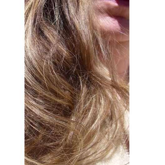 alverde Glanz Sprühkur Bio-Rohrzucker - Haare vor der Anwendung