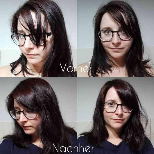 LANGHAARMÄDCHEN Volume Boost Conditioner- Haare vor und nach der Anwendung