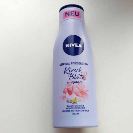 NIVEA Sensual Pflegelotion Kirschblüte & Jojobaöl - Flasche