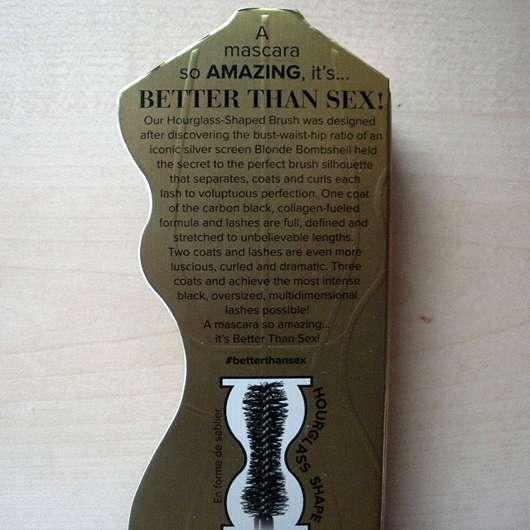 Too Faced Better Than Sex Mascara - Verpackung Rückseite
