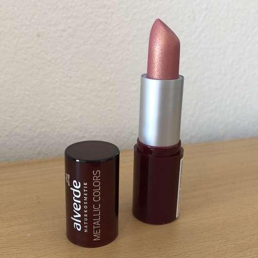 test lippenstift alverde metallic colors lippenstift farbe 37 ros gold testbericht von. Black Bedroom Furniture Sets. Home Design Ideas