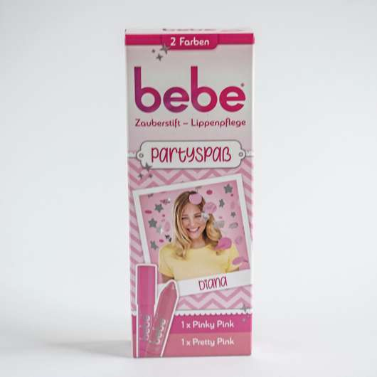 <strong>bebe®</strong> Zauberstift Lippenpflege Partyspaß Set - Farben: Pretty Pink & Pinky Pink