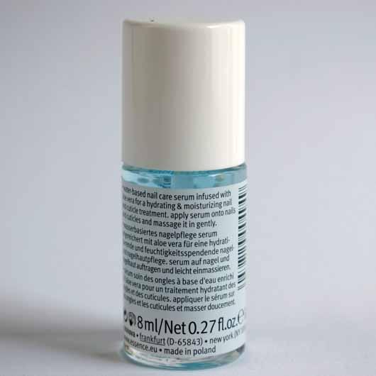 essence hydra nail care serum - Flakon Rückseite