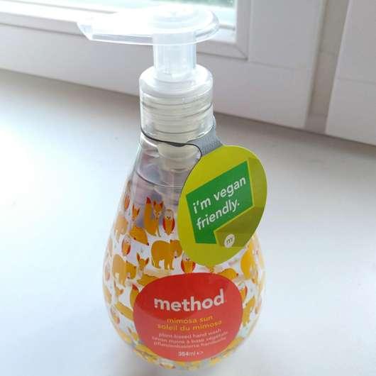 method mimosa sun pflanzenbasierte Handseife