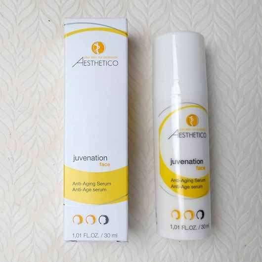 AESTHETICO juvenation Anti-Aging Serum - Verpackung und Spender