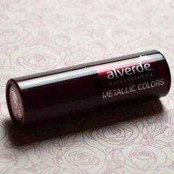 Produktbild zu alverde Naturkosmetik Metallic Colors Lippenstift – Farbe: 39 Crushed Velvet