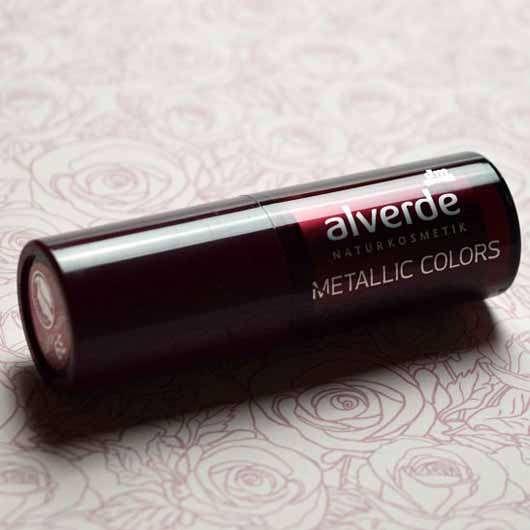 alverde Metallic Colors Lippenstift, Farbe: 39 Crushed Velvet - Hülse