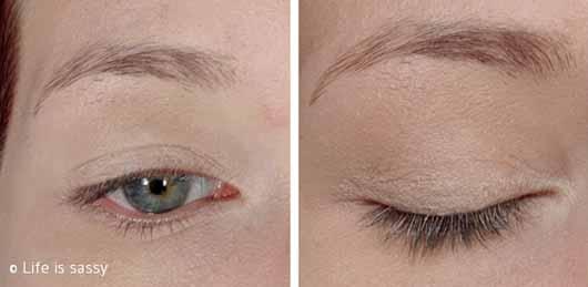 Bell HYPOAllergenic Waterproof Mat Eyeshadow, Farbe: 01 Beige - Auf dem Auge
