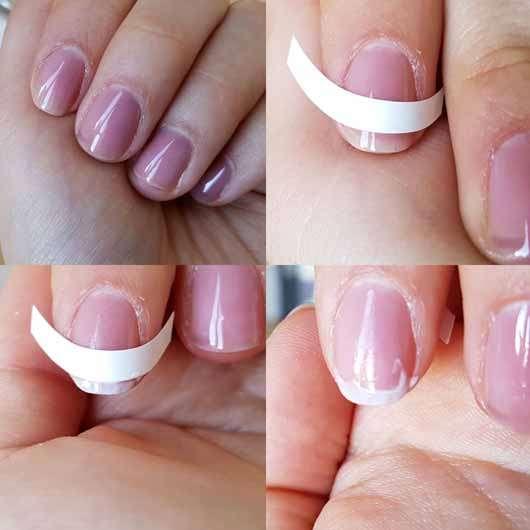 essence french manicure tip guides - Schablonen auf den Nägeln