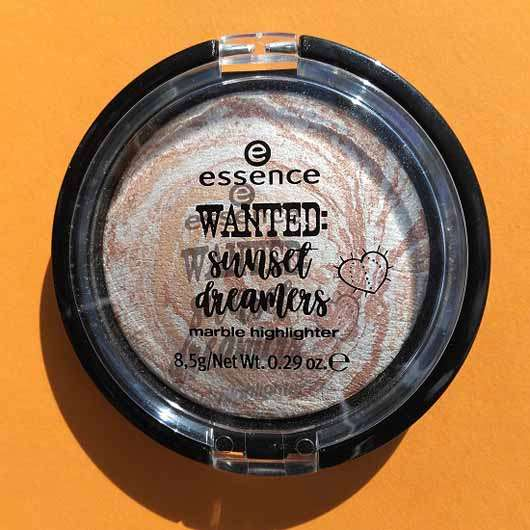essence wanted: sunset dreamers marble highlighter, Farbe: 01 golden summer days (LE) - Tiegel