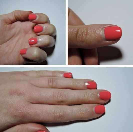 Sally Hansen Miracle Gel Duo Pack (Color Polish 210 + Top Coat) - Farbe auf den Nägeln nach einem Tag