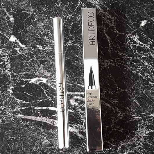 ARTDECO High Precision Liquid Liner, Farbe: 02 grey (LE) - Verpackung und Stift