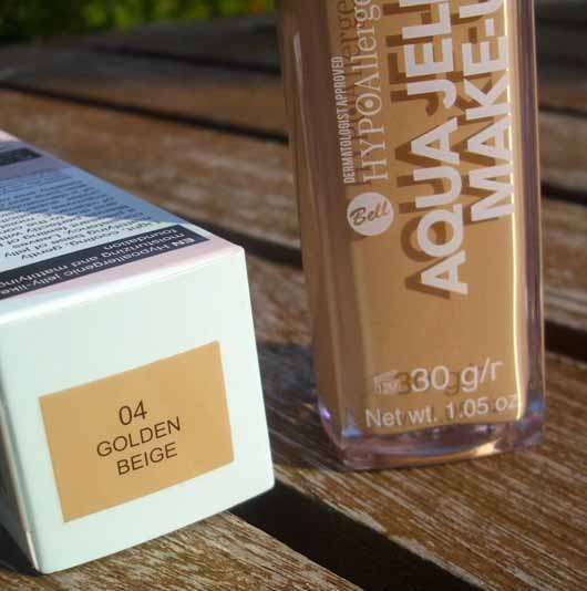 Bell HYPOAllergenic Aqua Jelly Make-Up, Farbe: 04 Golden Beige - Details