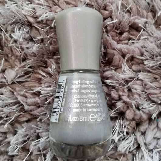 essence the gel nail polish, Farbe: 100 miracle stone - Flakon Rückseite
