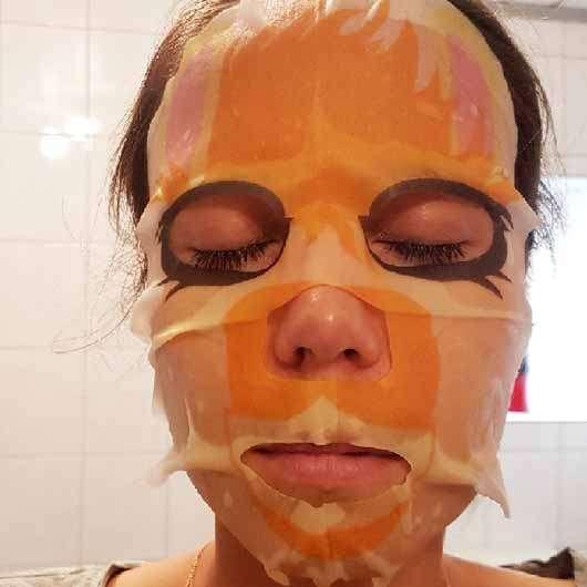 "The Beauty Mask Company Motiv-Tuchmaske ""Lama"" - Tuchmaske im Gesicht"