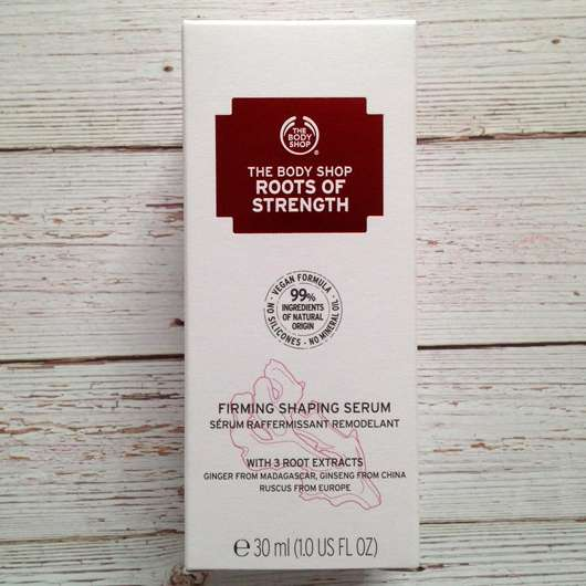 The Body Shop Roots of Strength Straffendes Serum - Verpackung