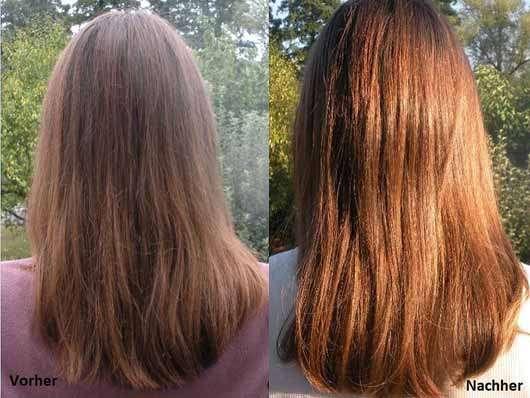 The Botanical Shampoo - Haare vorher und nacher