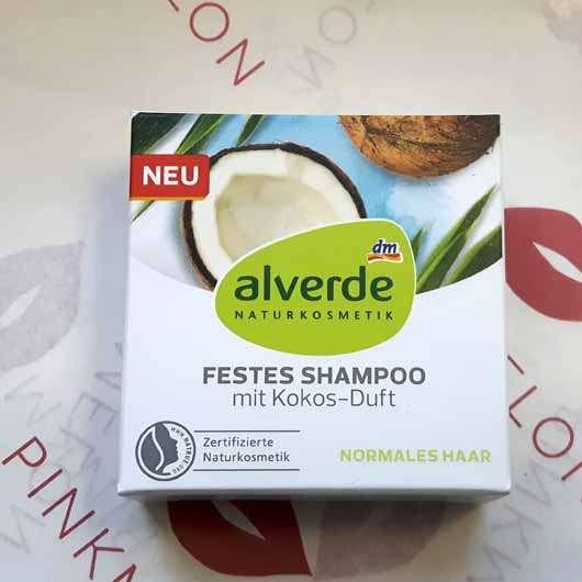"alverde festes Shampoo ""Kokos"" - Verpackung"