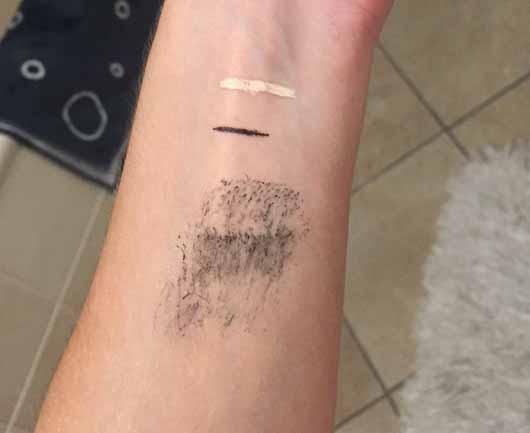 bebe Waschgel & Augen Make-Up Entferner - Swatches zur Reinigungssimulation