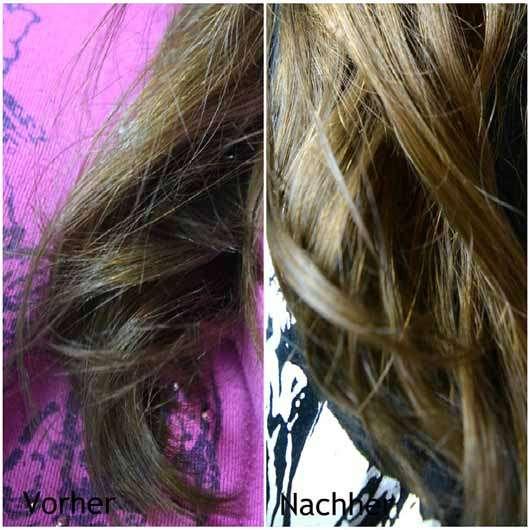LANGHAARMÄDCHEN Pretty Brown Shampoo - Haare vorher und nachher