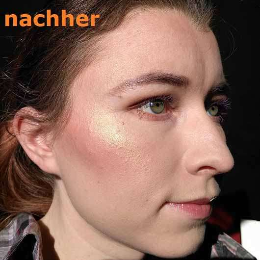 Makeup Revolution Ultra Blush Palette, Farbe: Golden Sugar - Haut mit Produkt