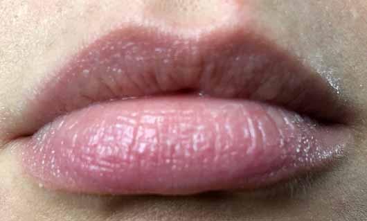 Melvita Bio-Honig Repairing Lip Balm -Lippen mit Produkt