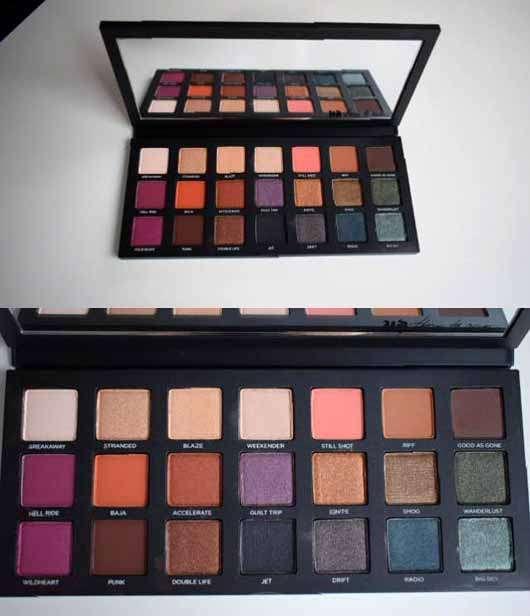 Urban Decay Born To Run Eyeshadow Palette - Palette geöffnet, alle Farben