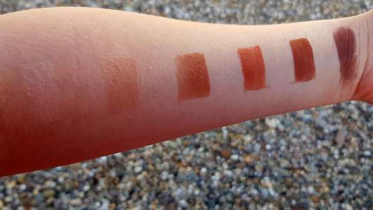 Urban Decay Naked Petite Heat Palette - Swatches ohne Base