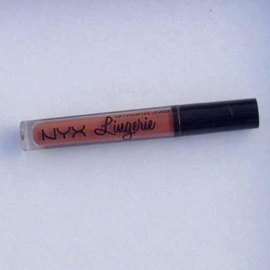 NYX Lip Lingerie Liquid Lipstick, Farbe: 08 Bedtime Flirt - Flakon
