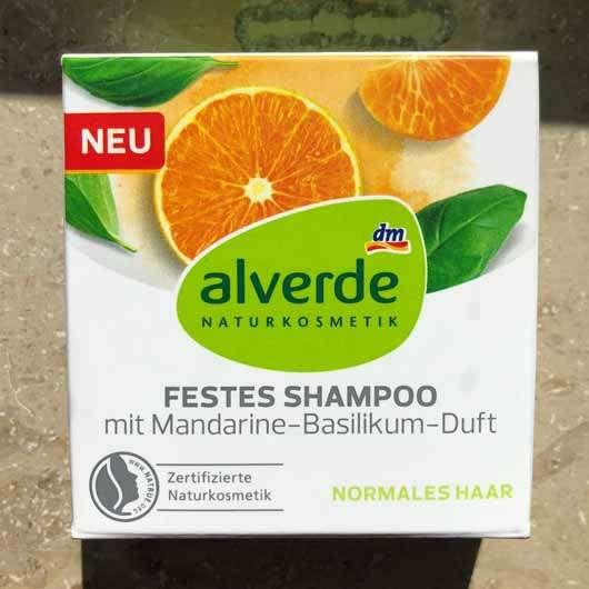 "alverde festes Shampoo ""Mandarine-Basilikum"" - Verpackung"