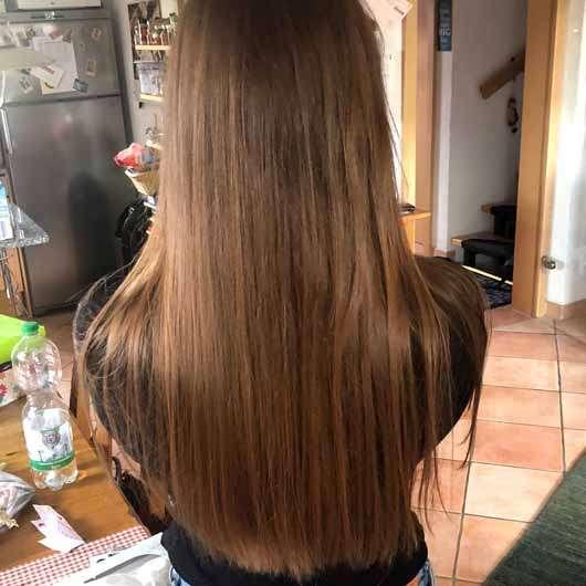 """alverde festes Shampoo """"Mandarine-Basilikum"""" - Haare vor der Testphase"""