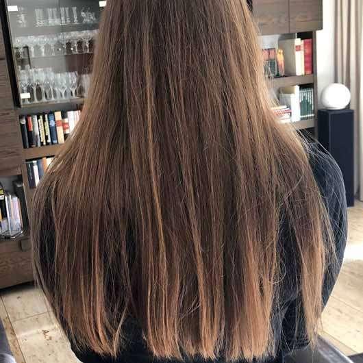 """alverde festes Shampoo """"Mandarine-Basilikum"""" - Haare nach vierwöchiger Testphase"""